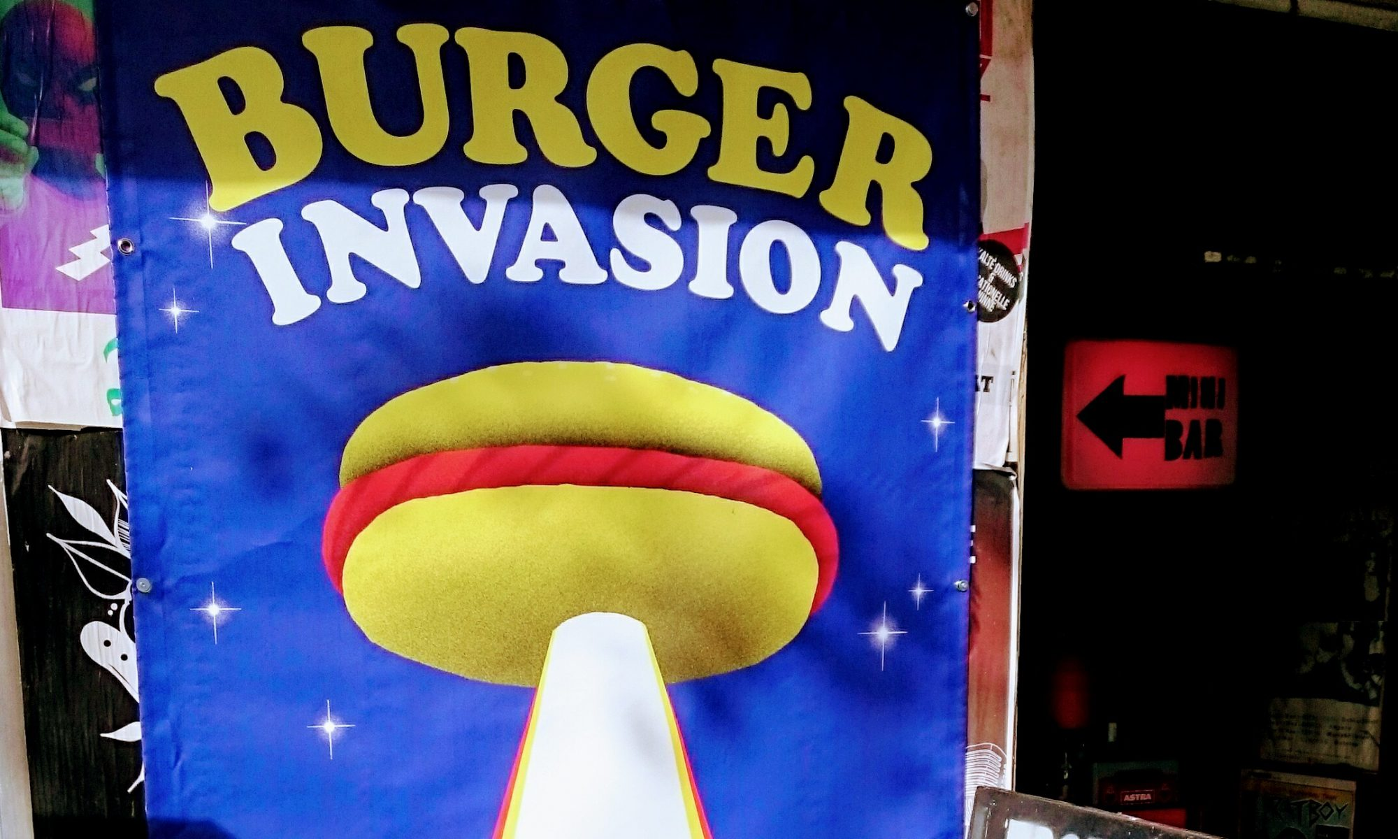 """Burger Invasion"", Burger Records, Label, Festival, Molotow, Club, St. Pauli, Hamburg, Poster, Artwork"