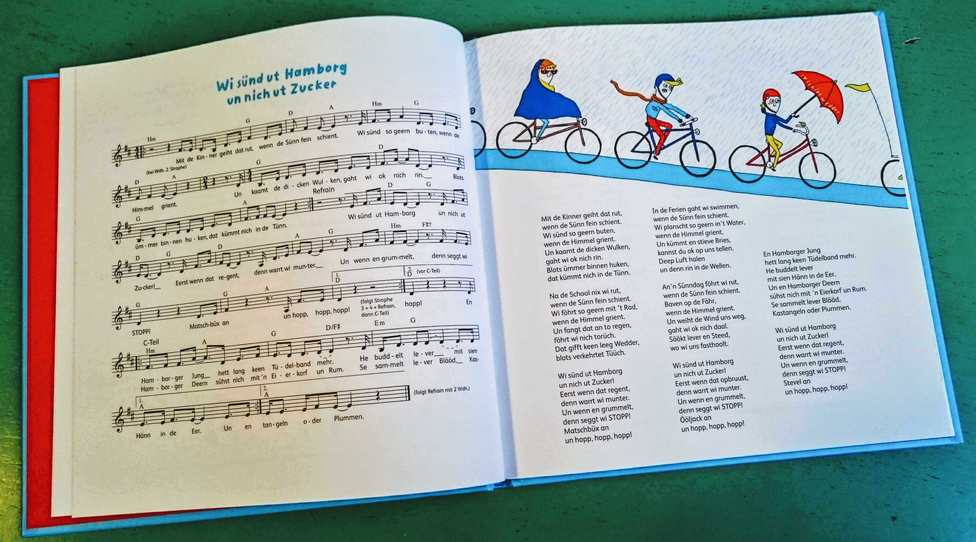 Plattkinner, Buch, Plattdeutsch, Plattdeutsches Buch des Jahres 2018, Wiebke Colmorgen, Hardy Kayser, Tanja Esch, Songs, Pop, Platt, Hanseplatte, Illustraion, Musik, Kinder, Hamburg