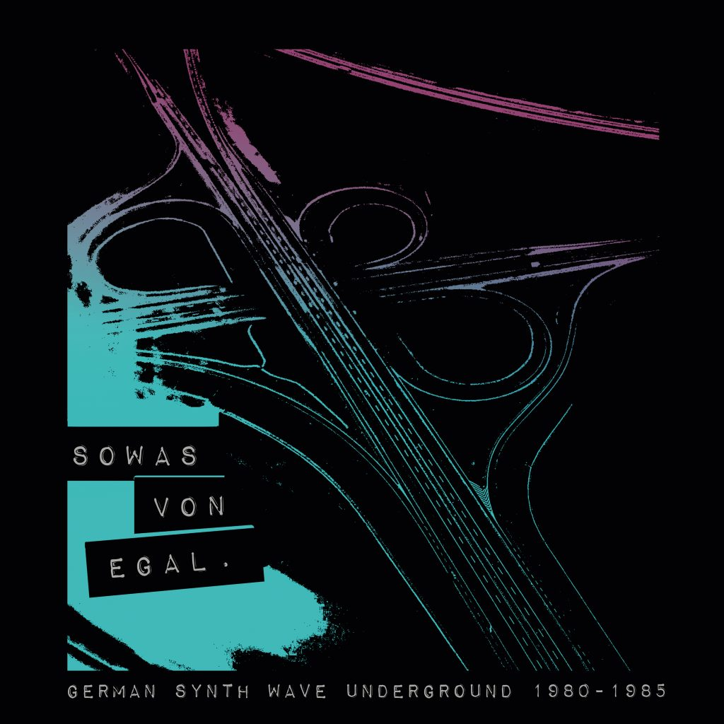 """Sowas von egal"", Cover, Autobahn, Sampler, bureau b, label, german, wave, pop, 80ties, gothic, ndw, djs, damaged goods, record, music"
