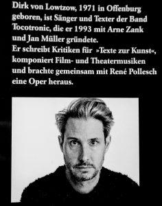 Dirk von Lowtzow, Aus dem Dachsbau, Buch, Kiepenheuer & Witsch, Hardcover, Tocotronic, Alphabet, Dachs, Pop, Hamburg, Foto, Jutta Pohlmann