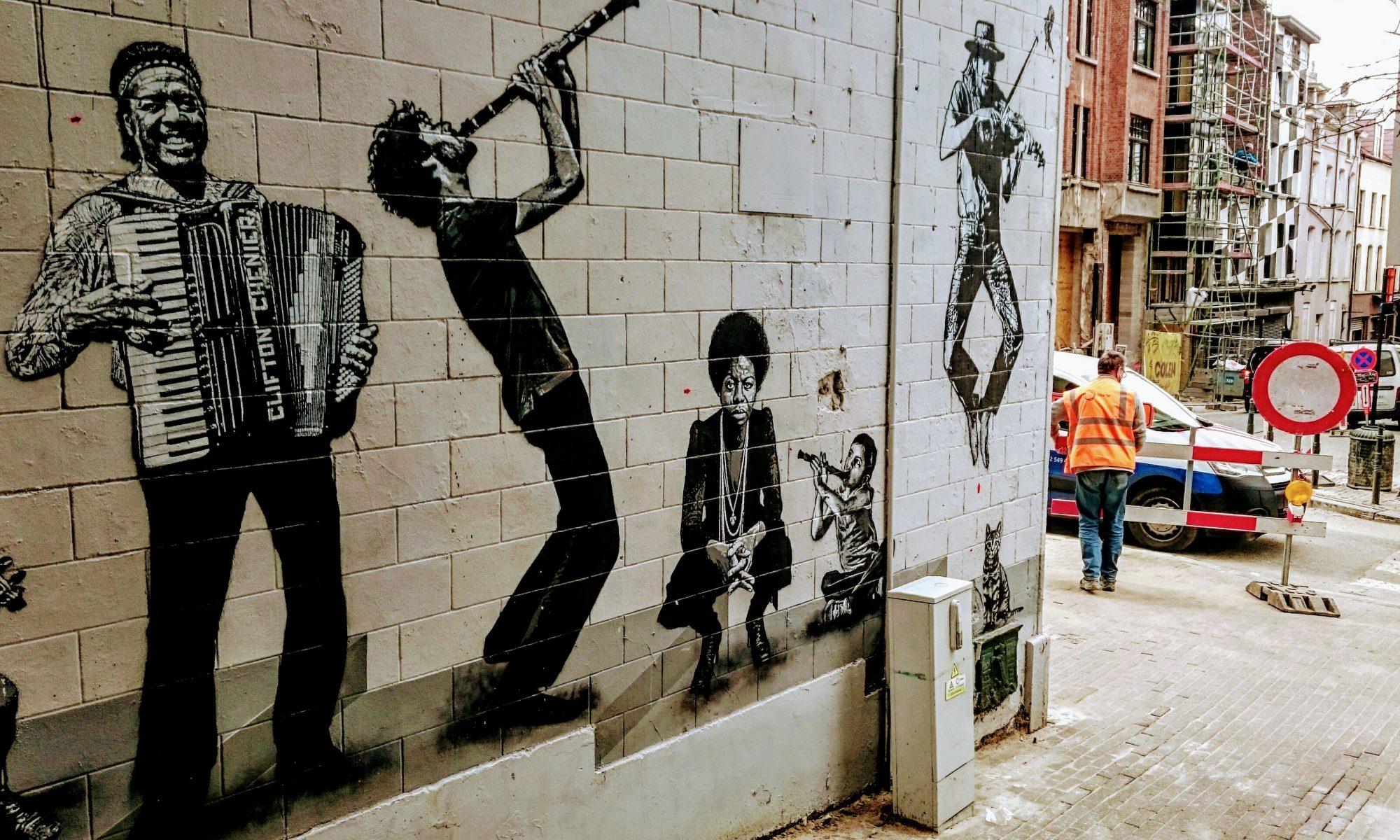 Street Art, Brussels, Brüssel, Marolles, Urban Art, Art, Music