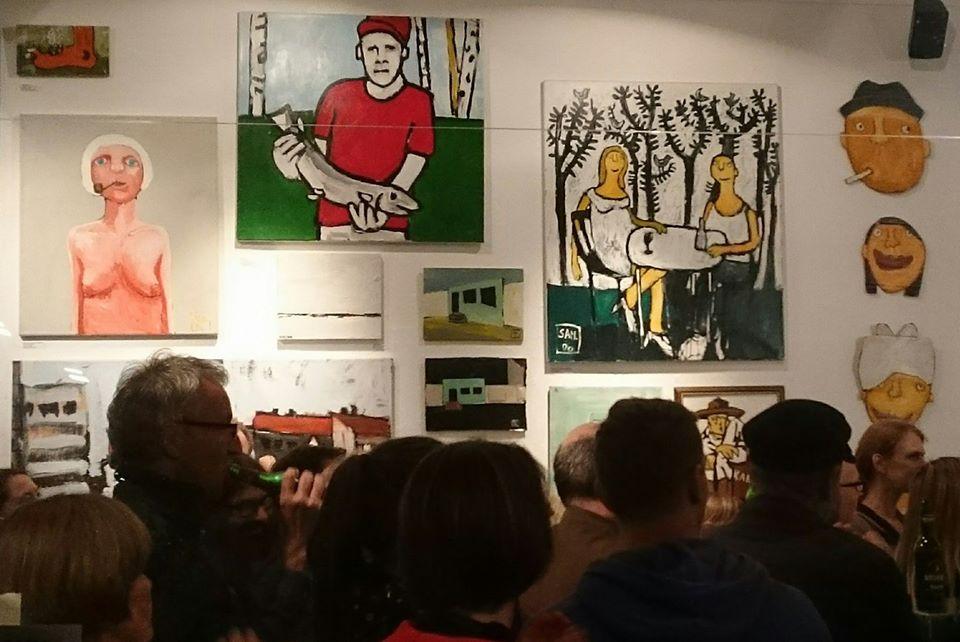 Nils Koppruch, Vernissage, Galerie Oberfett, Hamburg, Altona, Tod, Erinnerung, Zehnerjahre